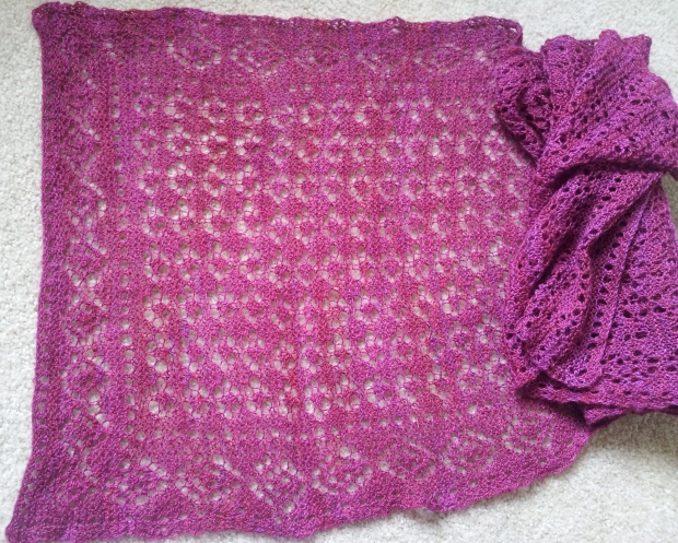 Here is a close up view of the lace wrap.