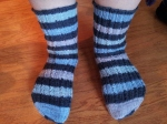Toe-Up Socks with Self-Striping Yarn